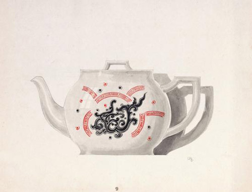 圭元图案集/陶瓷设计稿/25×29cm/1941年