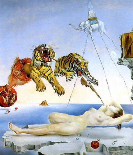 由飞舞的蜜蜂引起的梦,达利,1944年