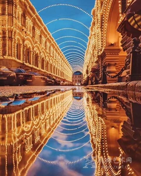 冬日里的莫斯科 如梦似幻