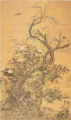 崔鏏 伯爵图 绢本设色 161.5×96cm 1740年