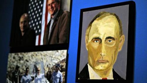 小布什笔下的普京肖像
