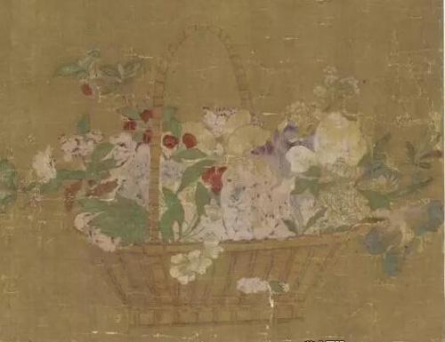 元 王立本(传) 《花笼之图》 估价:美元 25,000- 35,000 成交价:美元 60,000