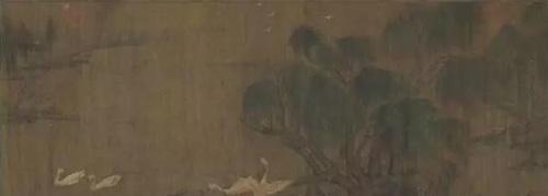 《石渠宝笈》记载为赵令穰(上等) 《鹅群图》 估价:美元 750,000- 950,000 成交价:美元 27,127,500
