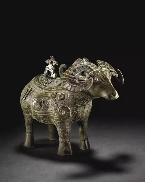 商晚期 青铜羊觥 估价:美元 6,000,000- 8,000,000 成交价:美元 27,127,500