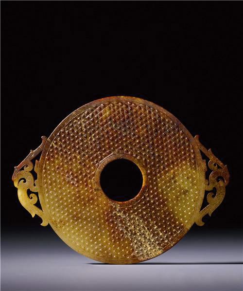 西汉白玉凤纹出廓璧 预估价380—480万新台币