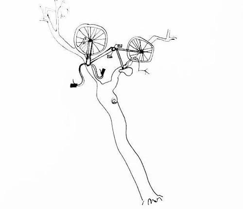 """新时代娱乐官网: 艺术家画出了摧残共享单车的""""作案手法"""""""