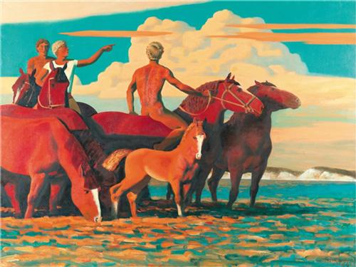 亚历山大·亚历大罗维奇·贝斯特罗夫 云 150×200cm 1995年