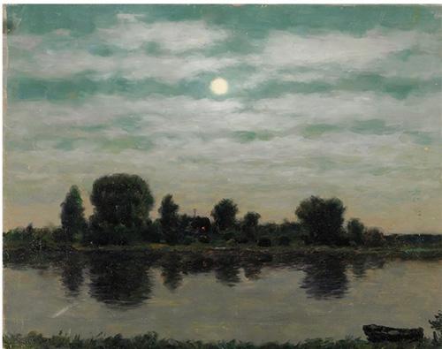 尤里·彼得罗维京·库加奇 月夜 39.5×49.5cm 1997年