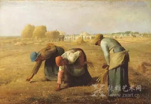 《拾穗者 》1857 年,现藏:奥塞美术馆