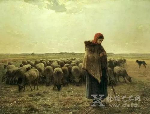 《牧羊女》1864年,现藏:奥赛博物馆藏