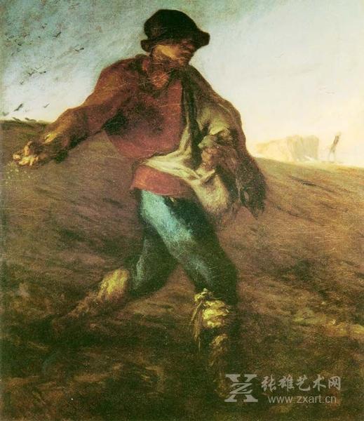 《播种者》1850 ~ 1851 年,现藏:波士顿美术馆