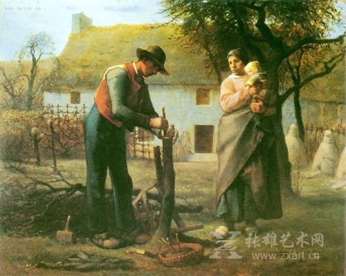 《嫁接树木的农夫》1855年,现藏:卢浮宫