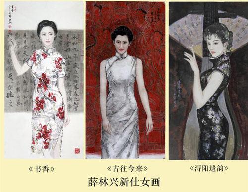 薛人体_在他的人物里三种类型,古代仕女,都市女孩,人体女神系列.