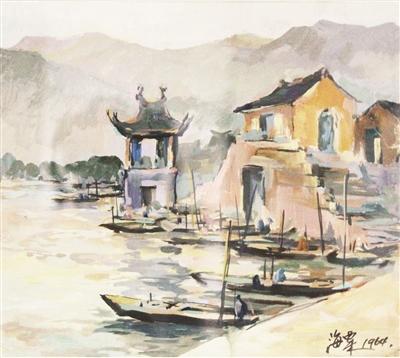 刘海粟与漳州有何渊源?答案就在这幅油画