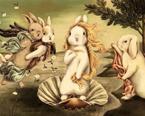 当兔子遇上世界名画 呆萌得不要不要的!