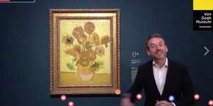 梵高5幅《向日葵》在Facebook直播上首度集结