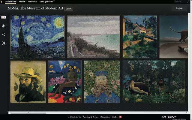 2016年,MoMA 开始提供展览图片的下载。