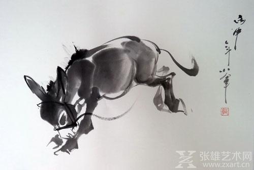 《毛驴》35x55cm 水墨动物 国画 2016年