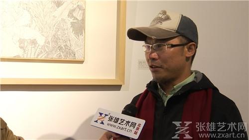 艺术家刘劲松接受采访