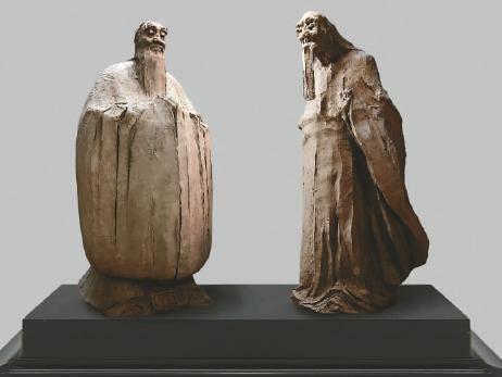 问道(青铜雕塑)吴为山