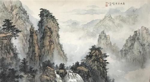 张大昕作品-高峡清溪