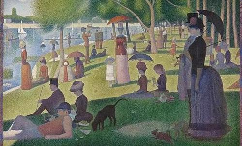 修拉 Georges Seurat - 大碗岛的星期天下午