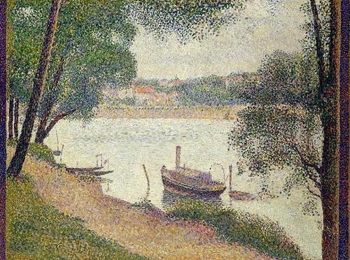 修拉 Georges Seurat - 大碗岛的灰色天气