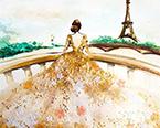 她用指甲油画出了世界上最美的裙子!