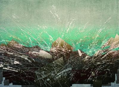 游记-怒川,版画,张远帆