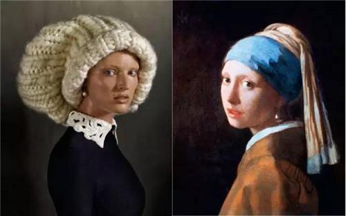 埃文?奥拉夫(ERWIN OLAF)在2013年6月的《Vogue》杂志刊登的照片,灵感来源于杨?维梅尔画于1665年的名画《戴珍珠耳环的少女》