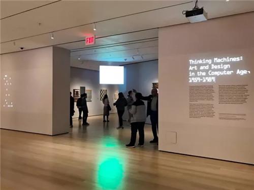 """9-1989""""展厅前,图片来源: TANC-思考机器在MoMA 计算机时代"""