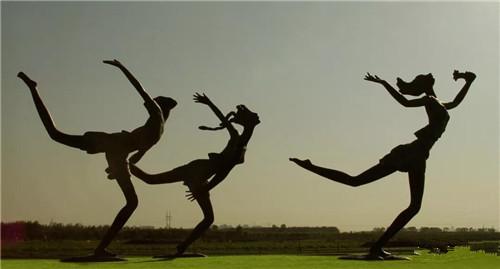 雕塑作品《翱翔》不锈钢16米,由2022冬奥会申办城市崇礼政府永久收藏.