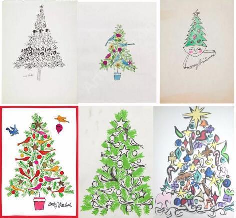 安迪・沃霍尔笔下的圣诞树