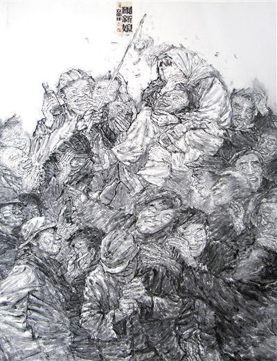 张立奎的水墨人物画