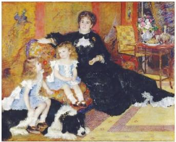 夏庞蒂埃夫人和她的孩子们(油画)  雷诺阿