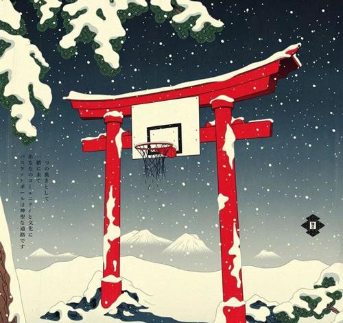 当浮世绘遇上篮球 这画风简直要逆天!