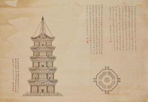 梁思成 手绘 《福建泉州塔》