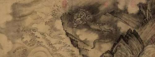 《石渠宝笈》记载为陈容 《六龙图》 水墨纸本 手卷