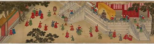 明宪宗元宵行乐图  纵37厘米、横624厘米,绢本设色
