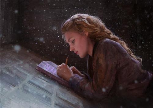 她笔下的美女肖像:楚楚动人 宛若天仙