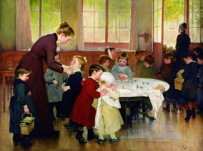 幼儿园(油画) 150×200厘米 1898年 亨利·儒勒·让·若弗里