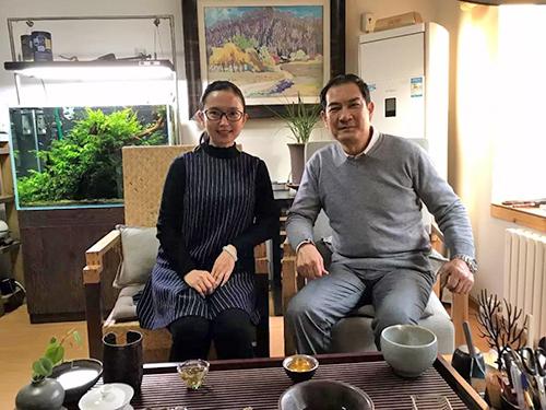 王雅君与恩师邹光平的喝茶聊天
