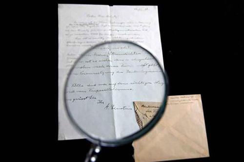 爱因斯坦亲笔书信以10.37 万美元成交