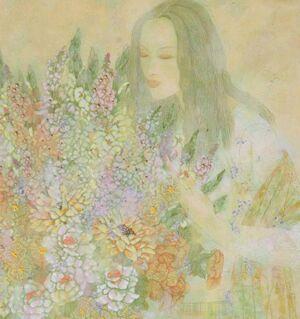 女画家张萍中国重彩画的独创之美