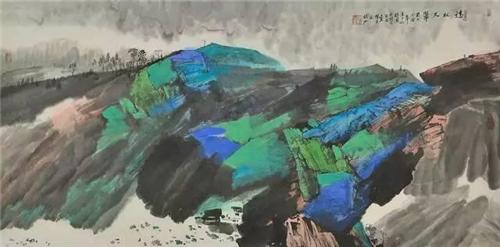 精神与意象——读张江重彩山水画作品