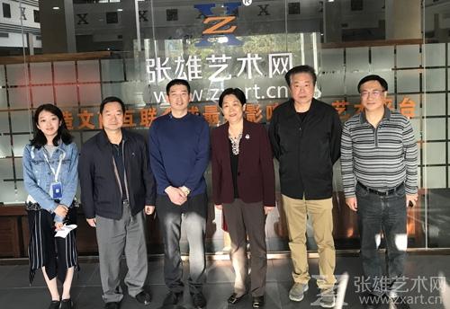 厦门张雄艺术文化股份有限公司董事长张雄与市政协领导一行合影留念