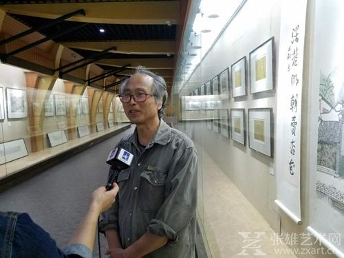巴秋家乡泰州电视台采访厦门大学艺术学院原副院长 毕士明