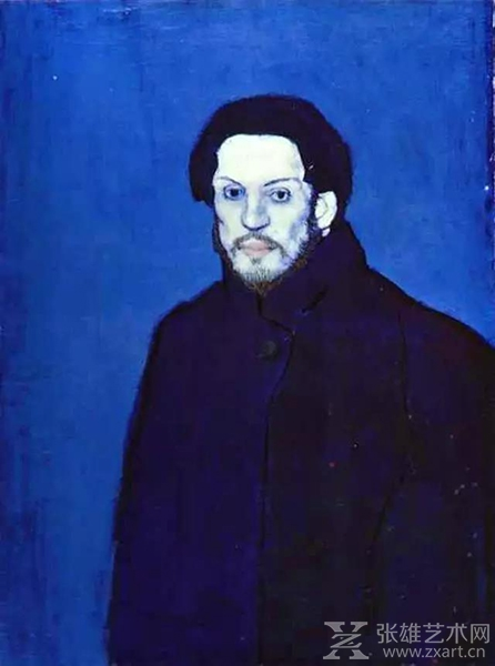 毕加索蓝色时期自画像