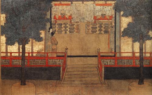 《女孝经图》局部,故宫博物院
