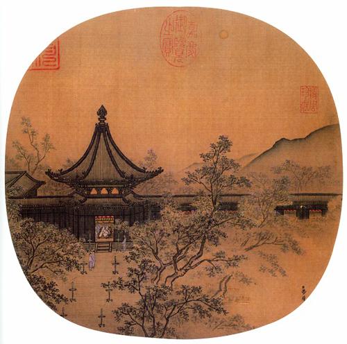 马麟《秉烛夜游图》,台北故宫博物院